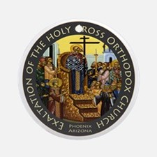 Exaltation of the Holy Cross Logo Round Ornament