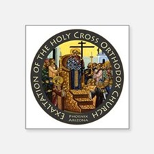 "Exaltation of the Holy Cros Square Sticker 3"" x 3"""