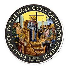 Exaltation of the Holy Cross Logo Round Car Magnet