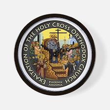 Exaltation of the Holy Cross Logo Wall Clock
