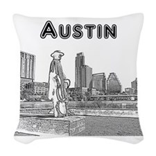 Austin_12x12_StevieRayVaughan_ Woven Throw Pillow