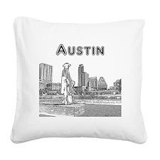 Austin_12x12_StevieRayVaughan Square Canvas Pillow