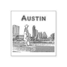 "Austin_12x12_StevieRayVaugh Square Sticker 3"" x 3"""