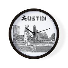 Austin_12x12_StevieRayVaughan_Black Wall Clock
