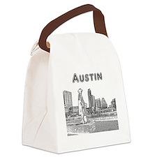 Austin_12x12_StevieRayVaughan_Bla Canvas Lunch Bag