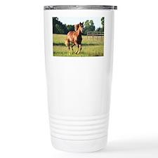 Running Horse Travel Coffee Mug
