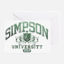 Simpson Last name University Class o Greeting Card
