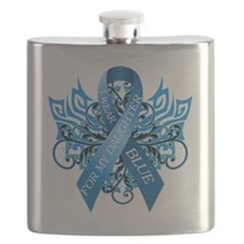 I Wear Blue for my Daughter Flask