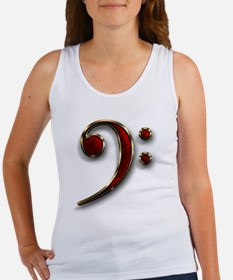 Bass Clef Women's Tank Top
