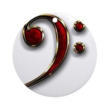 Bass Clef Round Ornament