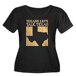 Talk Texas Women's Plus Size Scoop Neck Dark T-Shi