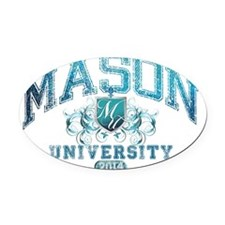 Mason Last Name University Class o Oval Car Magnet