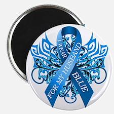 I Wear Blue for my Husband Magnet