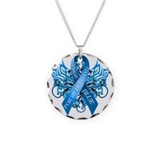 I Wear Blue for my Husband Necklace