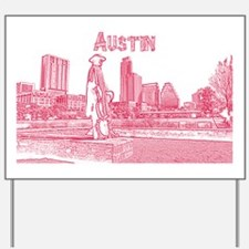 Austin_15X10_StevieRayVaughanStatue_Red Yard Sign