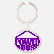 Power House Oval Keychain