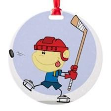 Hockey Kid Ornament
