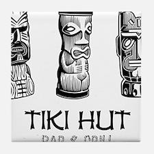 Tiki Hut Bar  Grill Tile Coaster