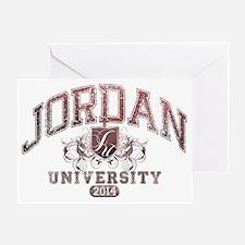 Jordan last name University Class of Greeting Card