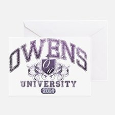 Owens Last Name University  Class of Greeting Card