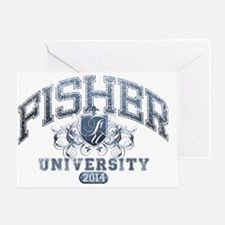 Fisher Last Name University Class of Greeting Card