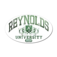 Reynolds Last Name Universit 35x21 Oval Wall Decal