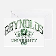 Reynolds Last Name University Class  Greeting Card