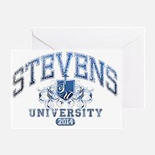 Stevens Last name University Class o Greeting Card