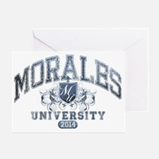 Morales Last Name University Class o Greeting Card