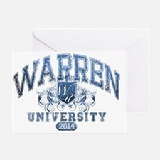 Warren Last name University Class of Greeting Card