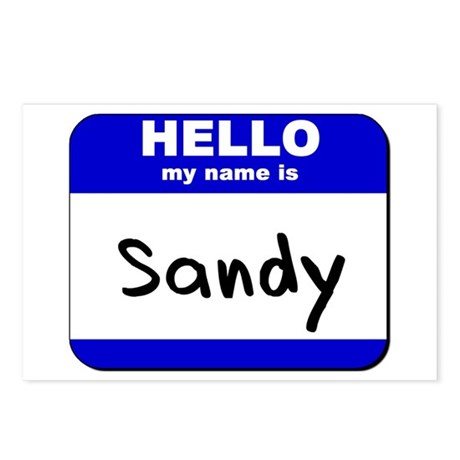 hello my name is sandy Postcards (Package of 8)