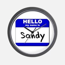 hello my name is sandy  Wall Clock