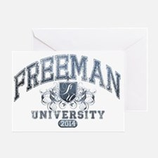Freeman Last Name University Class o Greeting Card
