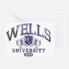 Wells Last Name University Class of  Greeting Card