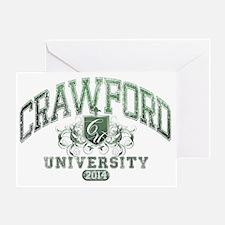 Crawford Last name University Class  Greeting Card
