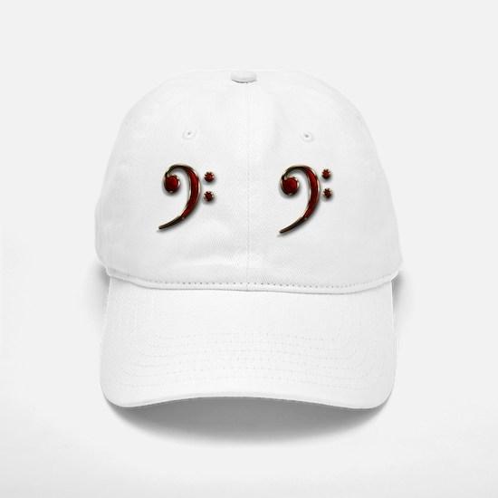 Bass Clef Double 2 Baseball Baseball Cap