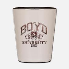 Boyd Last name University Class of 2014 Shot Glass