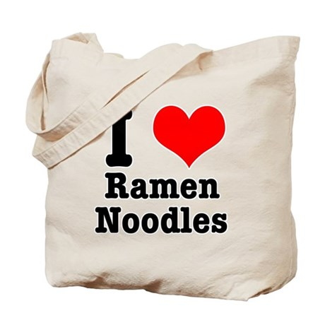 I Heart (Love) Ramen Noodles Tote Bag