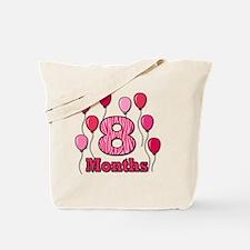 8 Months - Pink Zebra Tote Bag
