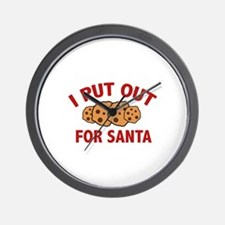 I Put Out For Santa Wall Clock