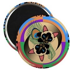 Siamese Kitty Cat Graphics Magnet