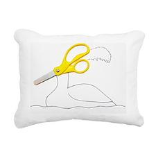 Scissor Swan Rectangular Canvas Pillow