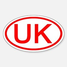 UK Oval (Red) Oval Decal