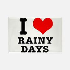I Heart (Love) Rainy Days Rectangle Magnet