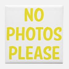 noPhotoPls1D Tile Coaster