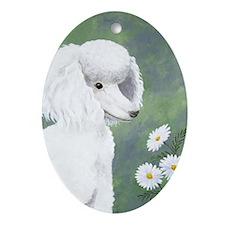 StephanieAM Poodle Oval Ornament