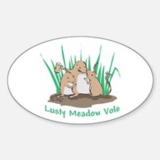 Lusty Meadow Vole Oval Decal