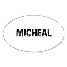 Micheal Oval Decal