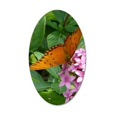 Passion Vine Butterfly 35x21 Oval Wall Decal