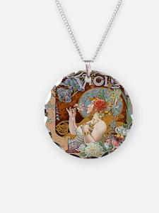 Vintage Paris Violet Perfume Necklace